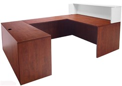 Cherry/White U-Shaped Reception Desk