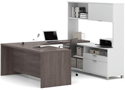 U-Shaped Workstation w/ Hutch