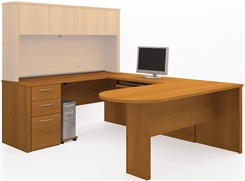 U-Shaped Workstation w/Peninsula Desk