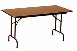 "48"" x 24"", 5/8"" Thick Melamine Folding Table - Other Sizes Available"