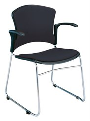Value Stack Chair w/ Arms & Fabric Seat & Back