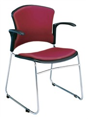 Value Stack Chair w/ Arms & Vinyl Seat & Back