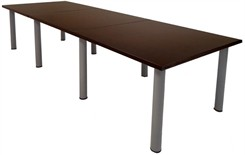 12' Espresso Veneer Table w/Post Legs