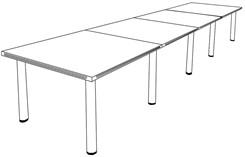 16' Espresso Veneer Table w/Post Legs