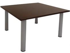 4' Square Espresso Veneer Table w/Post Legs