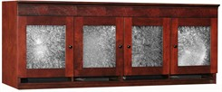 Wall Mounted Overhead Storage Hutch w/Crackle Glass