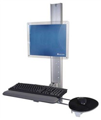 Wall Track Mounted Computer Workstation
