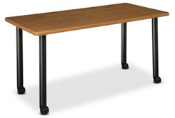 "60""W x 24""D Rectangular Table W/Locking Casters"