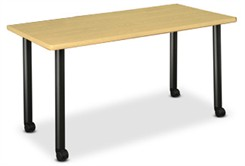 "72""W x 30""D  Rectangular Table W/Locking Casters"