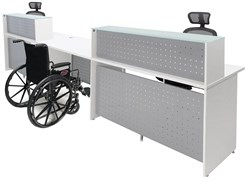 White 2-Person Glass Top Wheelchair Accessible