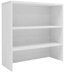 White Lateral File/Cabinet Bookcase Hutch