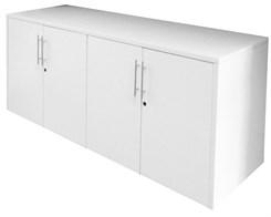 White 4-Door Locking Storage Credenza