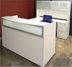 White U-Shaped Reception Desk