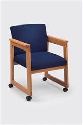 Wing Arm Guest Chair with Casters