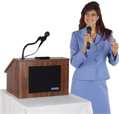 Wireless EZ Speak Folding Lectern With Carrying Case