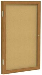 """Wood Frame Cork Bulletin Board - 18""""x24"""" 1 Door"""