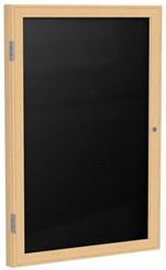 """Wood Frame Enclosed Letter Board - 18"""" X 24"""" 1 Door"""