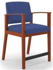 Amherst Wood Frame Hip Chair in Standard Fabric or Vinyl