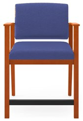 400 lb. Cap. Amherst Wood Frame Hip Chair in Standard Fabric or Vinyl