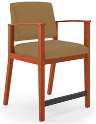 Amherst Wood Frame Hip Chair in Upgrade Fabric or Healthcare Vinyl