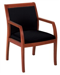 Medium Cherry Wood Guest Chair with Full Back Design