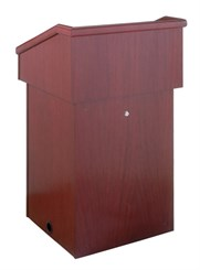 Wood Veneer Floor Lectern with Locking Access Door
