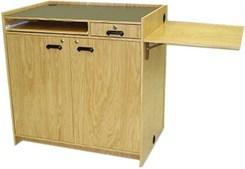 Wood Veneer Multimedia Workstation