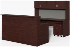 "Wrap-Around Custom Reception Desk - Left Bridge, 84"" x 108"""
