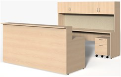 "Wrap-Around Custom Reception Desk - Right Bridge, 84"" x 108"""