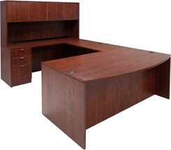 Cherry Laminate U-Shaped Workstation by Gibraltar