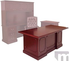 "Franklin Traditional Dark Cherry Veneer Office Furniture Series - 72"" X 36"" Desk"