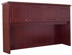 Traditional Dark Cherry Veneer Hutch