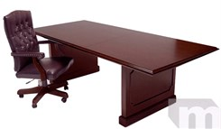 8', 10' & 12' In Stock Franklin Dark Cherry Traditional Veneer Conference Tables