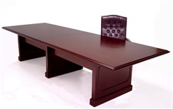 12' Traditional Dark Cherry Veneer Conference Table
