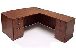 Cherry Laminate Executive L-Desk