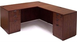 Cherry Laminate Manager's L-Desk