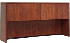 Cherry Laminate 4-Door Storage Hutch