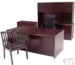 Genuine Mahogany Veneer Office Furniture Package