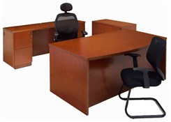 Genuine Cherry Veneer Office Furniture Package