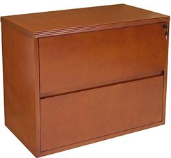 Cherry Veneer 2-Drawer Lateral File