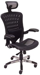 350 Lbs. Capacity ErgoFlex Ergonomic Mesh Office Chair w/Headrest