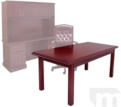 Traditional Dark Cherry Veneer Table Desk