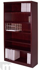 Mahogany Veneer Heavy Duty Bookcase