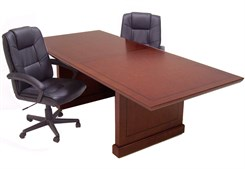 Expandable Brown Cherry Conference Tables in 8' + 4' Adder Sections!
