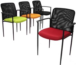 Mesh Stackable Guest Chair w/Color Burst
