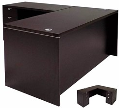 L-Shaped Managers' Desk w/6 Drawers