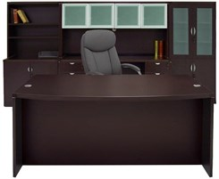 Mocha Office Furniture 6-Piece Suite