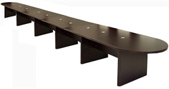 24' Mocha Laminate Conference Table