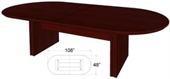 "108"" x 48"" Custom Oval Racetrack Conference Table"
