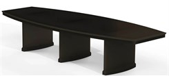 12′ Espresso Finish Boat-Shaped Conference Table